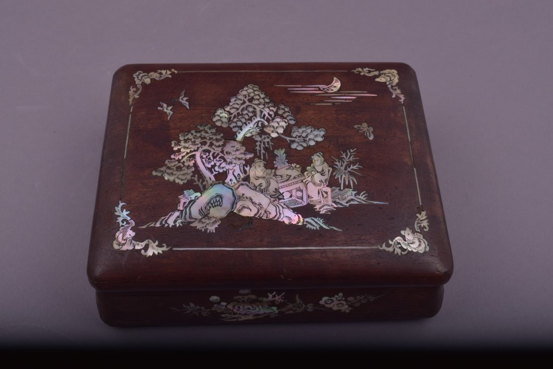Lot of three Asian boxes to include: A 19th century - 7