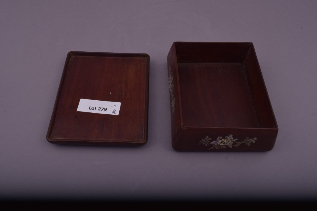 Lot of three Asian boxes to include: A 19th century - 8