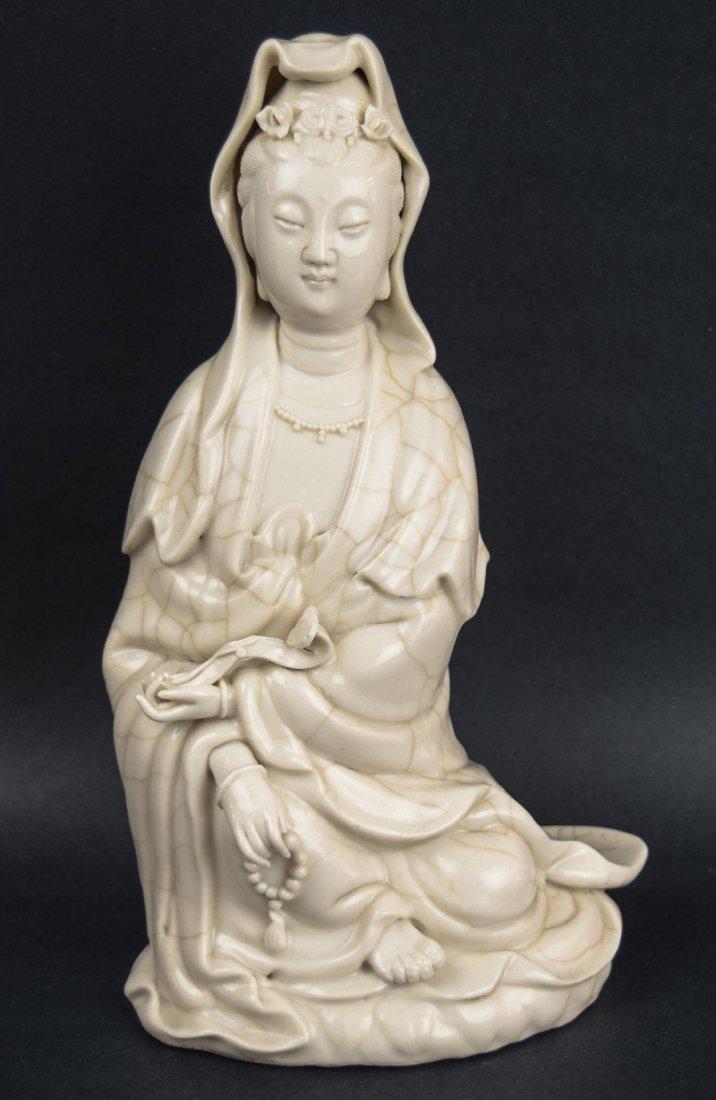 Porcelain figure. China. Late 19th century. White glaze