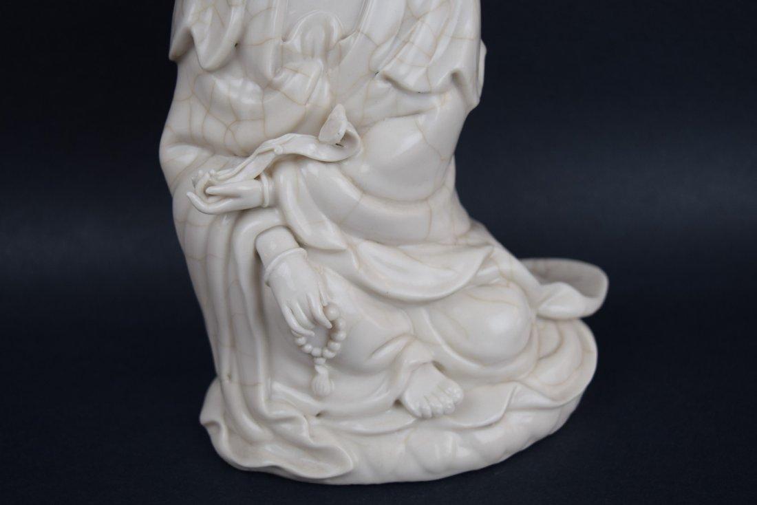 Porcelain figure. China. Late 19th century. White glaze - 3