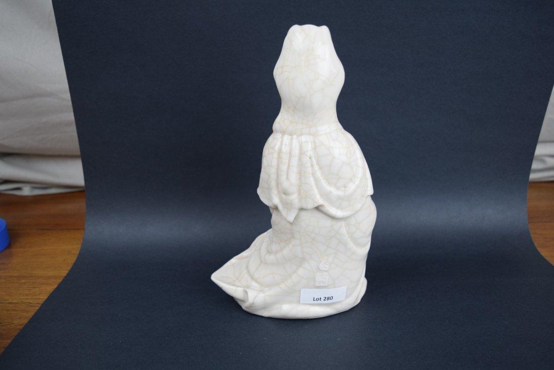 Porcelain figure. China. Late 19th century. White glaze - 5