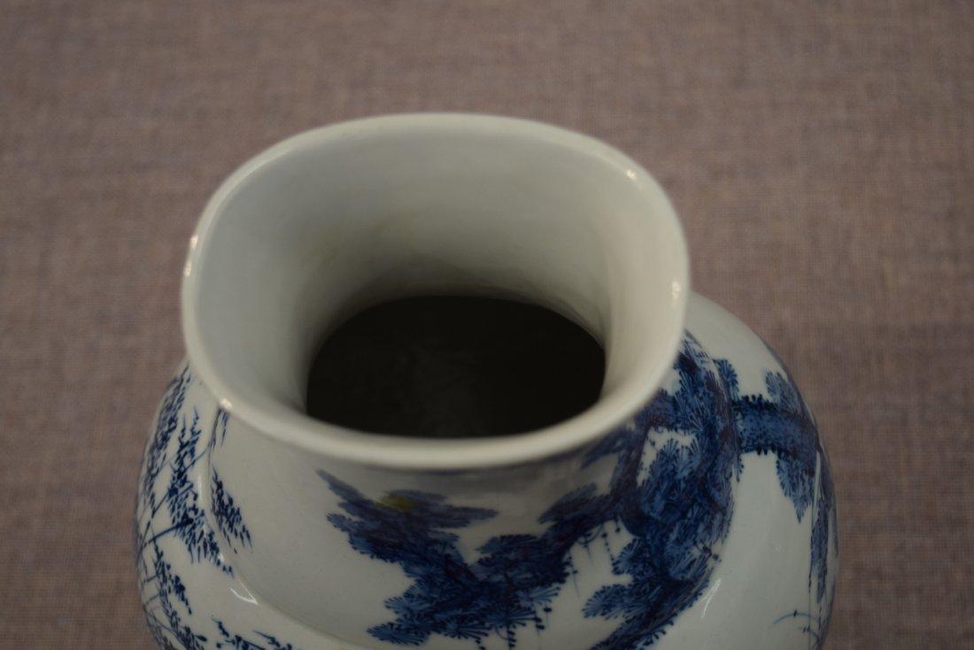 Porcelain vase. China. 20th century. Oval form. - 5