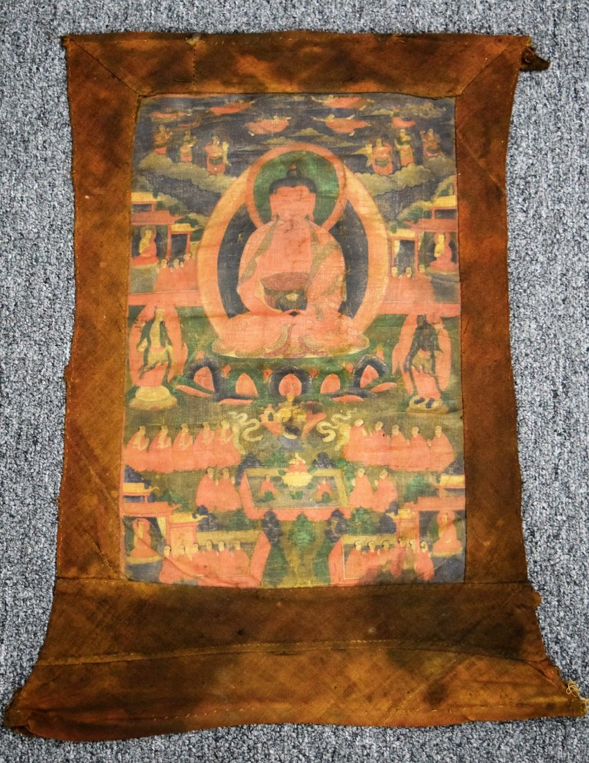 Buddhist Icon. Tibet. 19th century. Ink and colours on