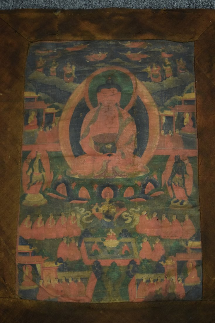 Buddhist Icon. Tibet. 19th century. Ink and colours on - 2