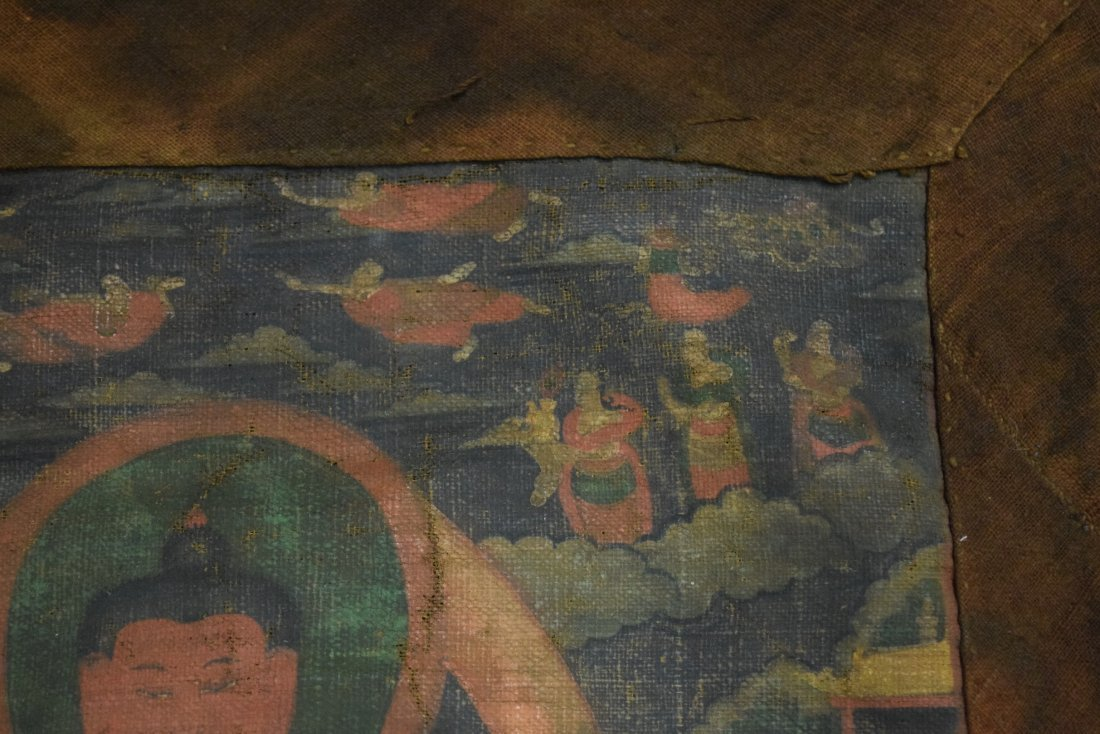 Buddhist Icon. Tibet. 19th century. Ink and colours on - 4