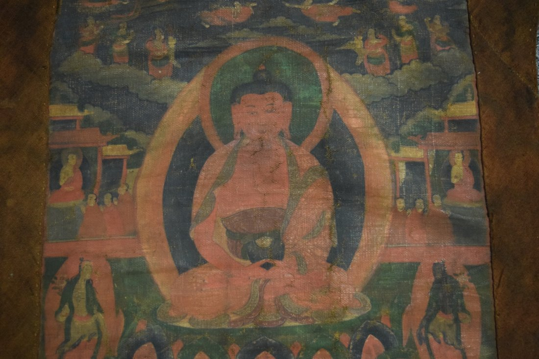 Buddhist Icon. Tibet. 19th century. Ink and colours on - 5