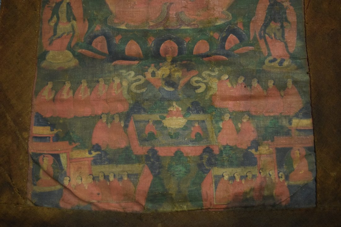 Buddhist Icon. Tibet. 19th century. Ink and colours on - 6