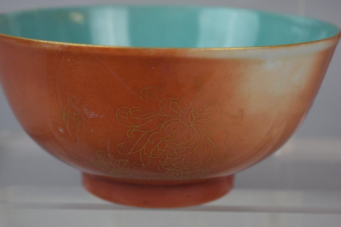 Porcelain bowl. China. Early 20th century. Orange - 4