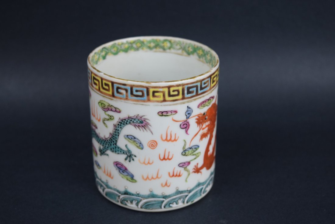 Chinese Export porcelain handle mug. 19th century. - 2