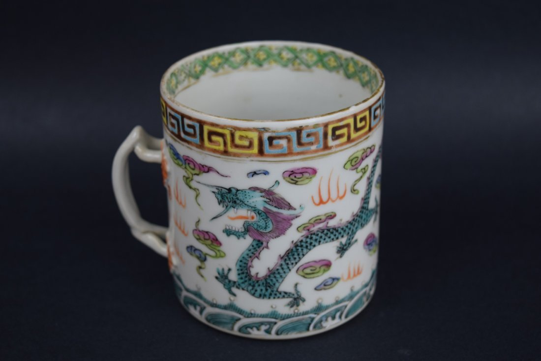 Chinese Export porcelain handle mug. 19th century. - 3