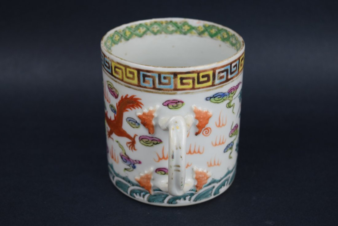 Chinese Export porcelain handle mug. 19th century. - 4