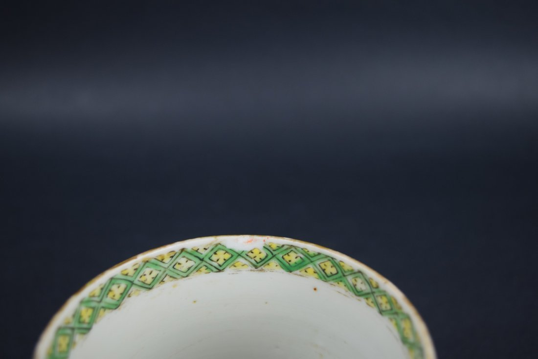 Chinese Export porcelain handle mug. 19th century. - 5