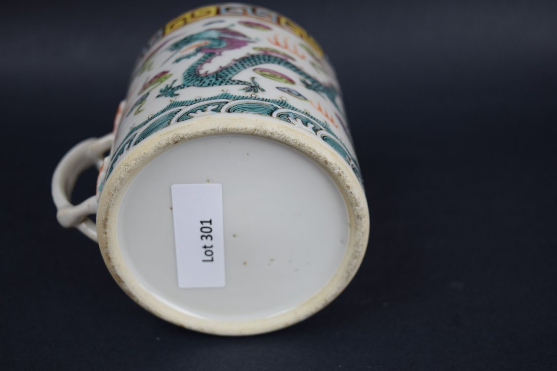 Chinese Export porcelain handle mug. 19th century. - 6