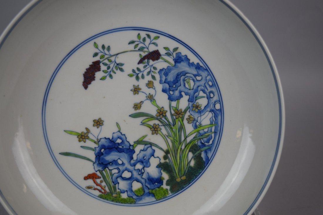 Porcelain saucer dish. China. 20th century. Tou Tsai - 2