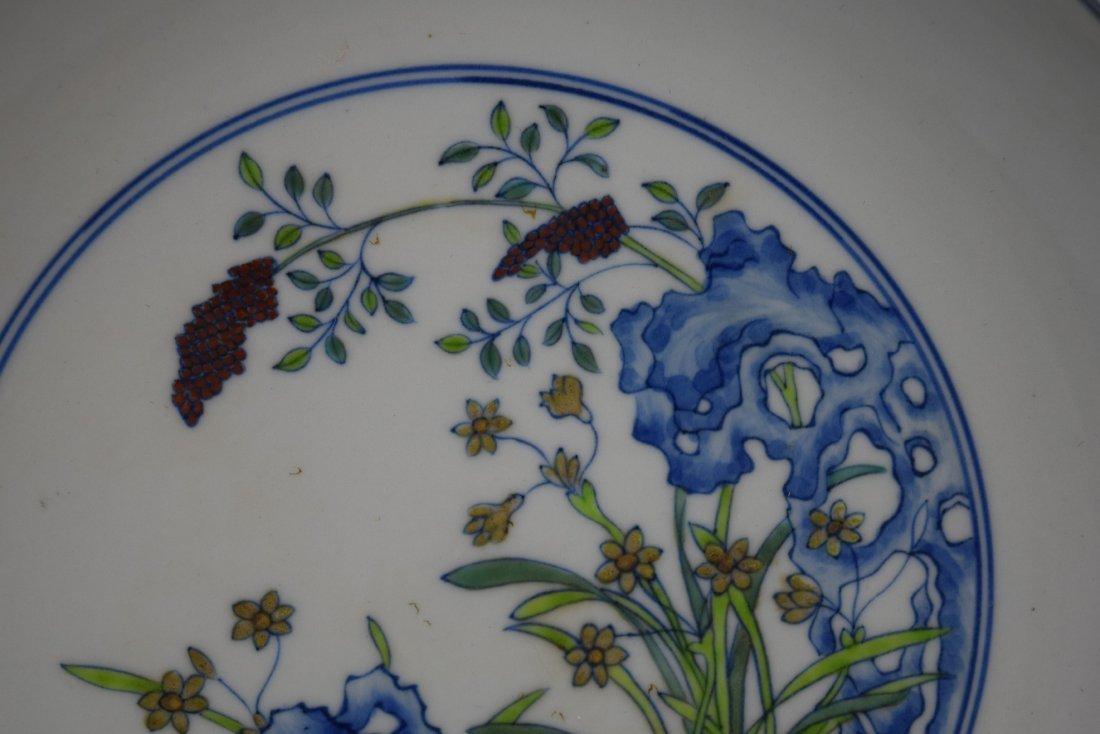 Porcelain saucer dish. China. 20th century. Tou Tsai - 3