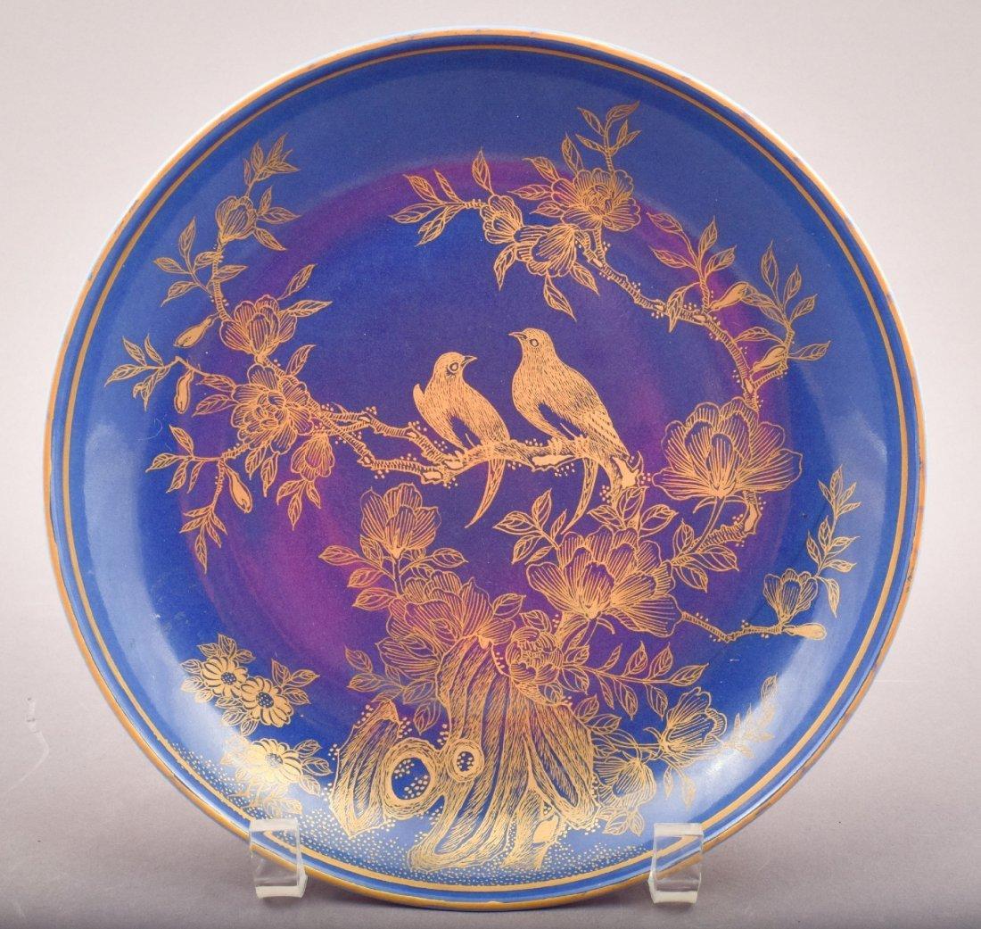 Porcelain saucer dish. China. 20th century. Blue