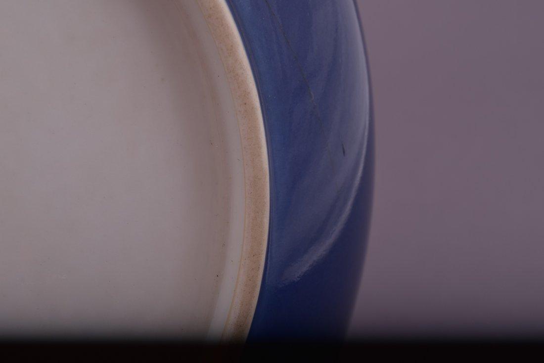 Porcelain saucer dish. China. 20th century. Blue - 4