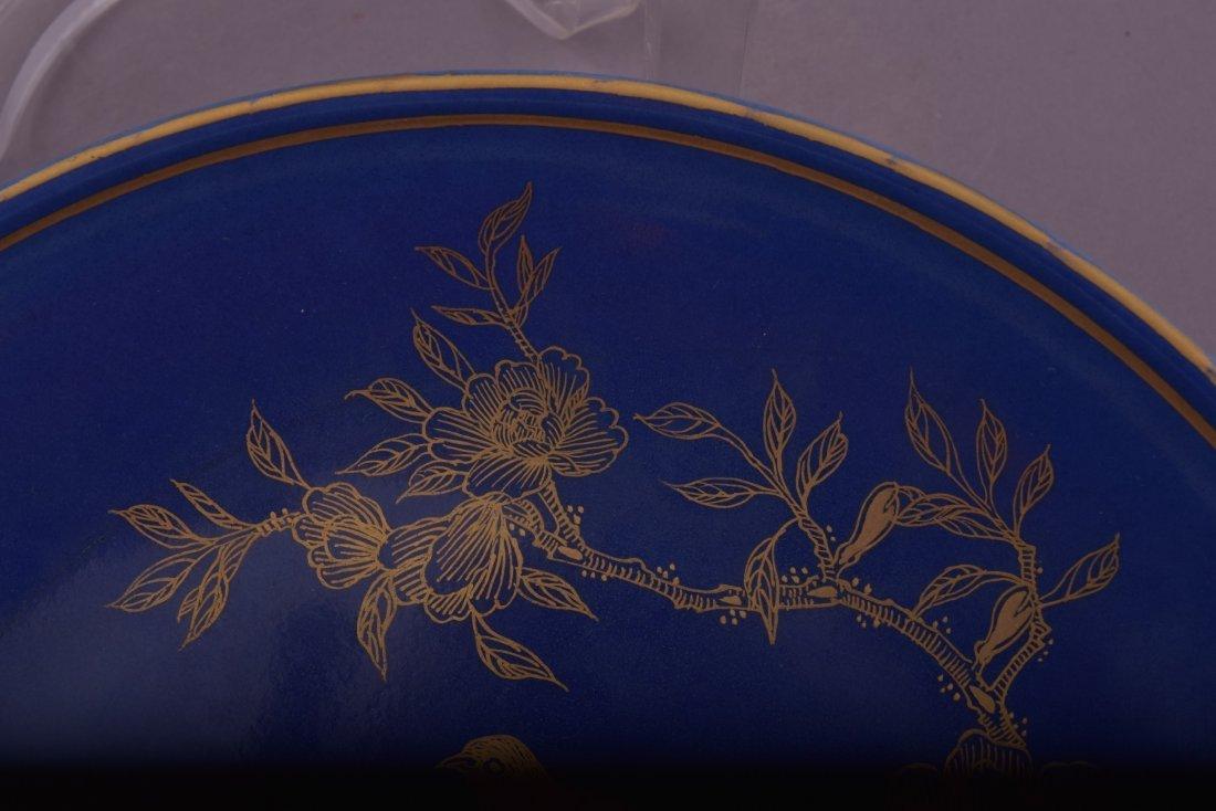 Porcelain saucer dish. China. 20th century. Blue - 7