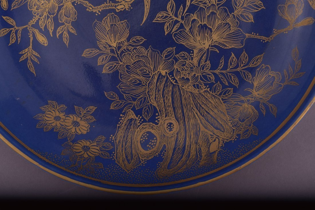 Porcelain saucer dish. China. 20th century. Blue - 8
