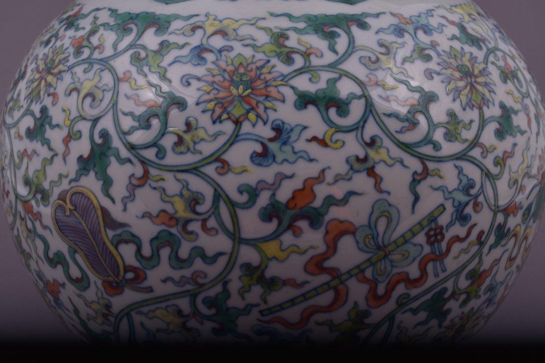 Porcelain vase. China. 20th century. Bottle form. Tou - 6