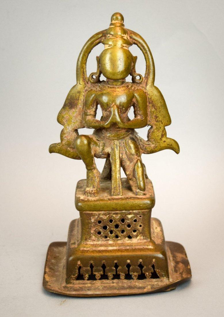 Bronze hindu Divinity. India. 18th century. Kneeling