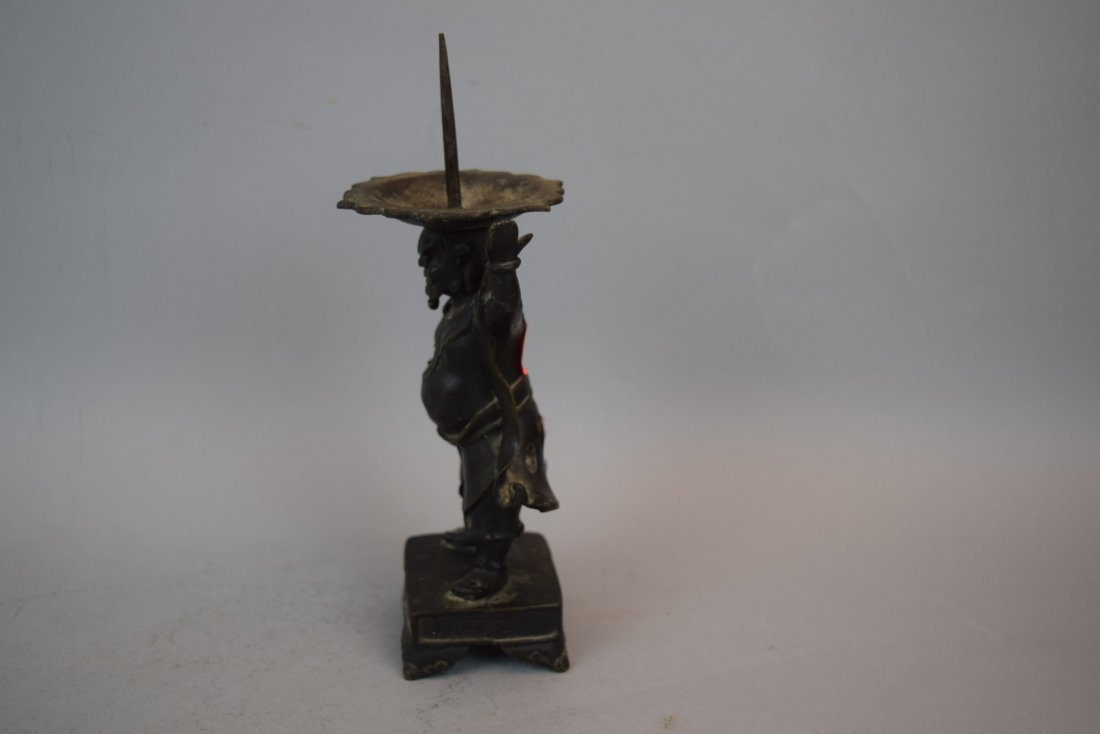 Bronze candle pricket. China. 18th century or earlier. - 2