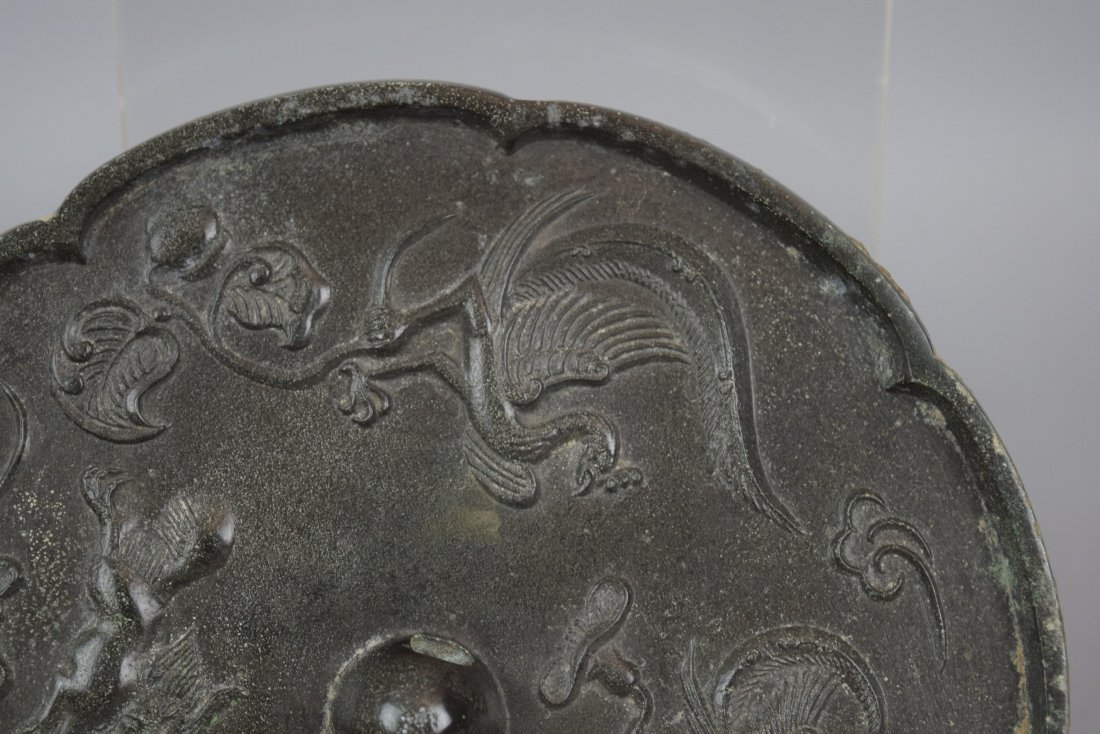 Bronze mirror. China. Tang period (618-920) Decoration - 5