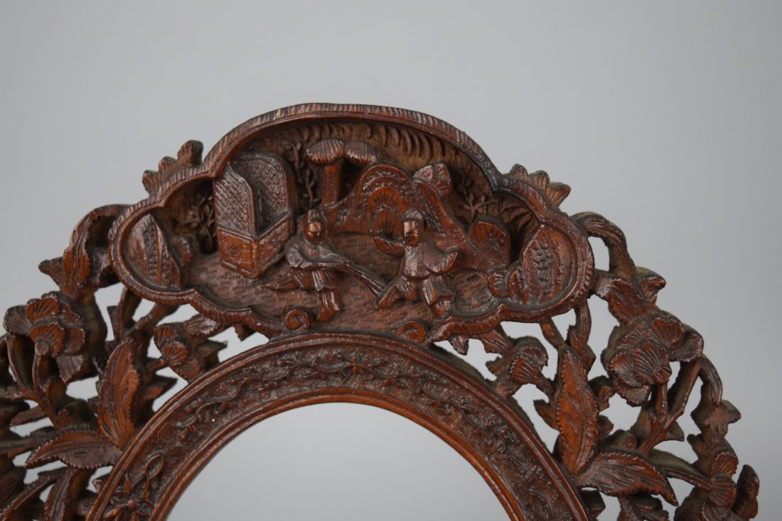 Pair of oval picture frames, Chinese Export. 19th - 3