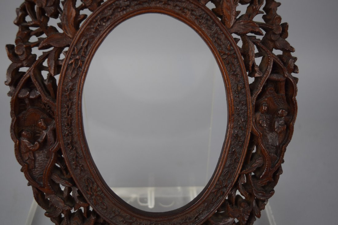 Pair of oval picture frames, Chinese Export. 19th - 4