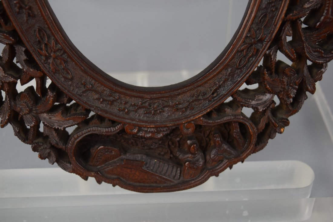 Pair of oval picture frames, Chinese Export. 19th - 6