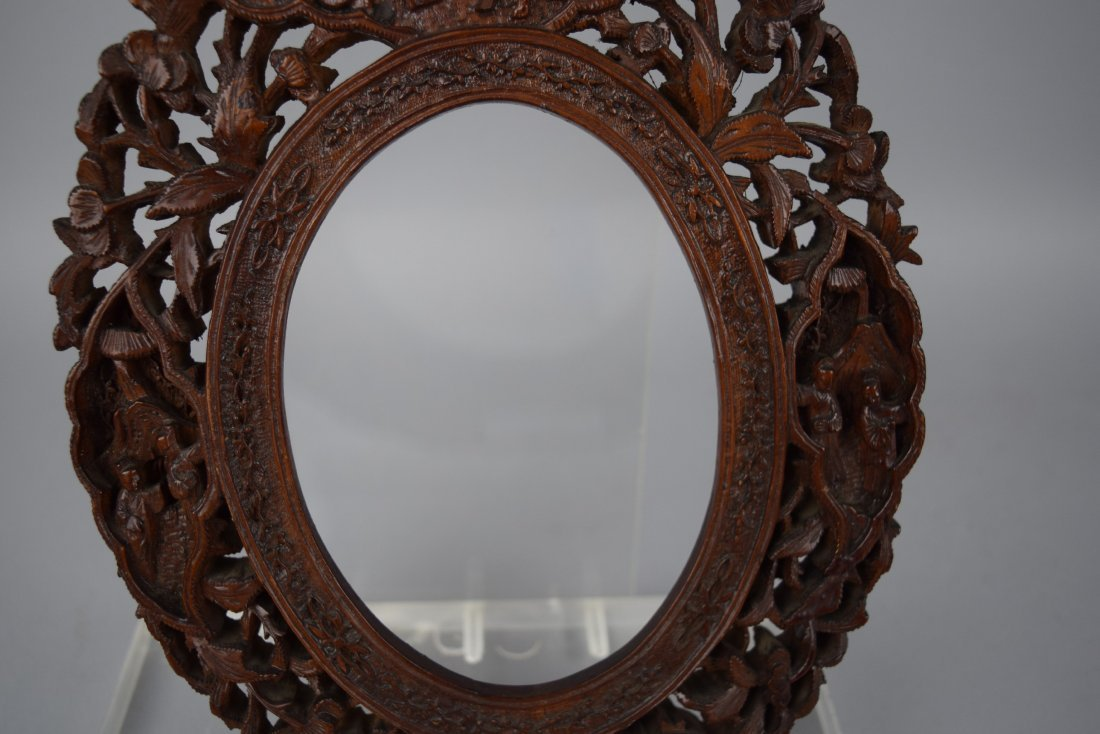 Pair of oval picture frames, Chinese Export. 19th - 8