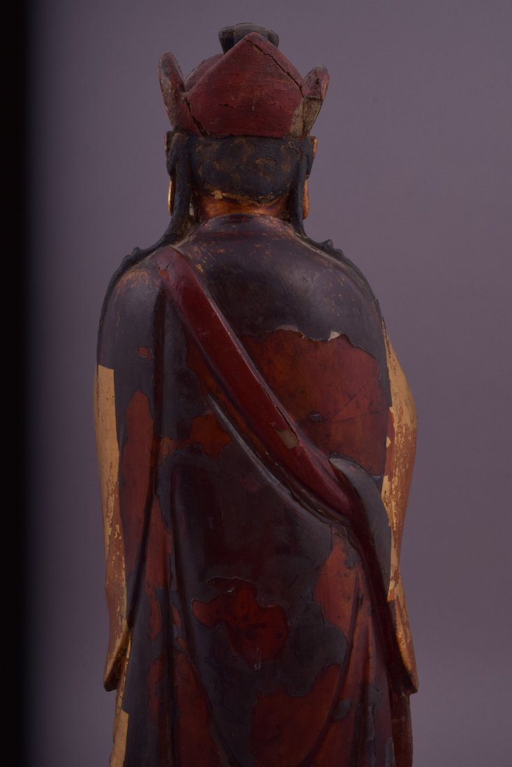 Wood carving. China. 18th century or earlier. Standing - 10