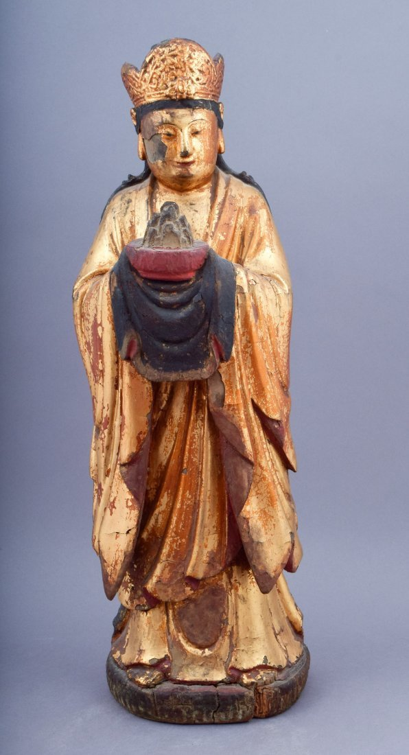 Wood carving. China. 18th century or earlier. Standing