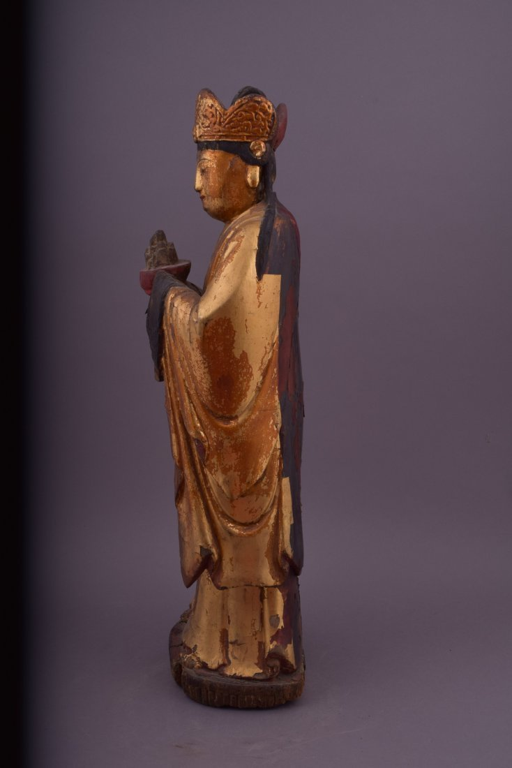 Wood carving. China. 18th century or earlier. Standing - 2
