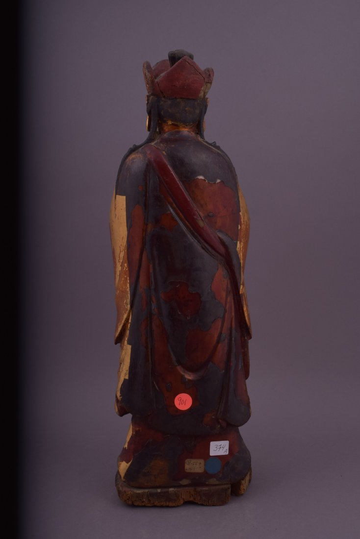 Wood carving. China. 18th century or earlier. Standing - 3