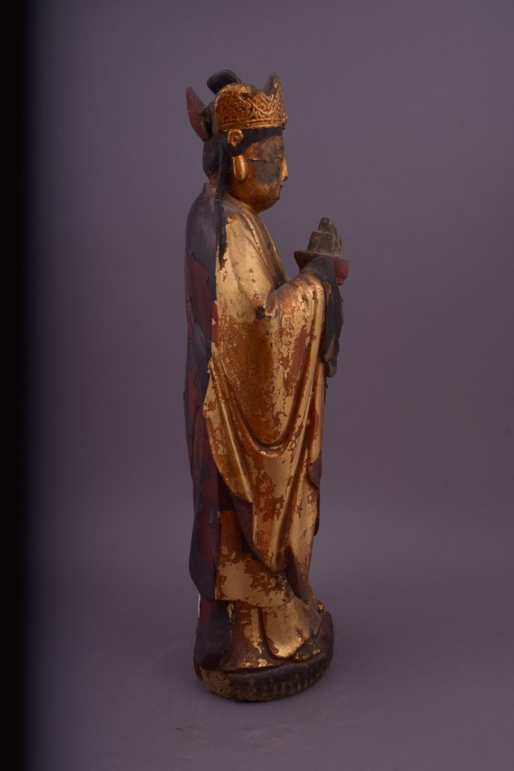 Wood carving. China. 18th century or earlier. Standing - 4