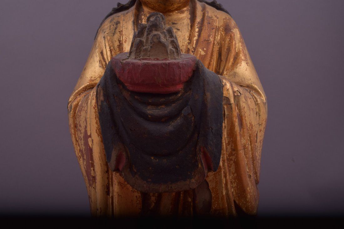 Wood carving. China. 18th century or earlier. Standing - 7