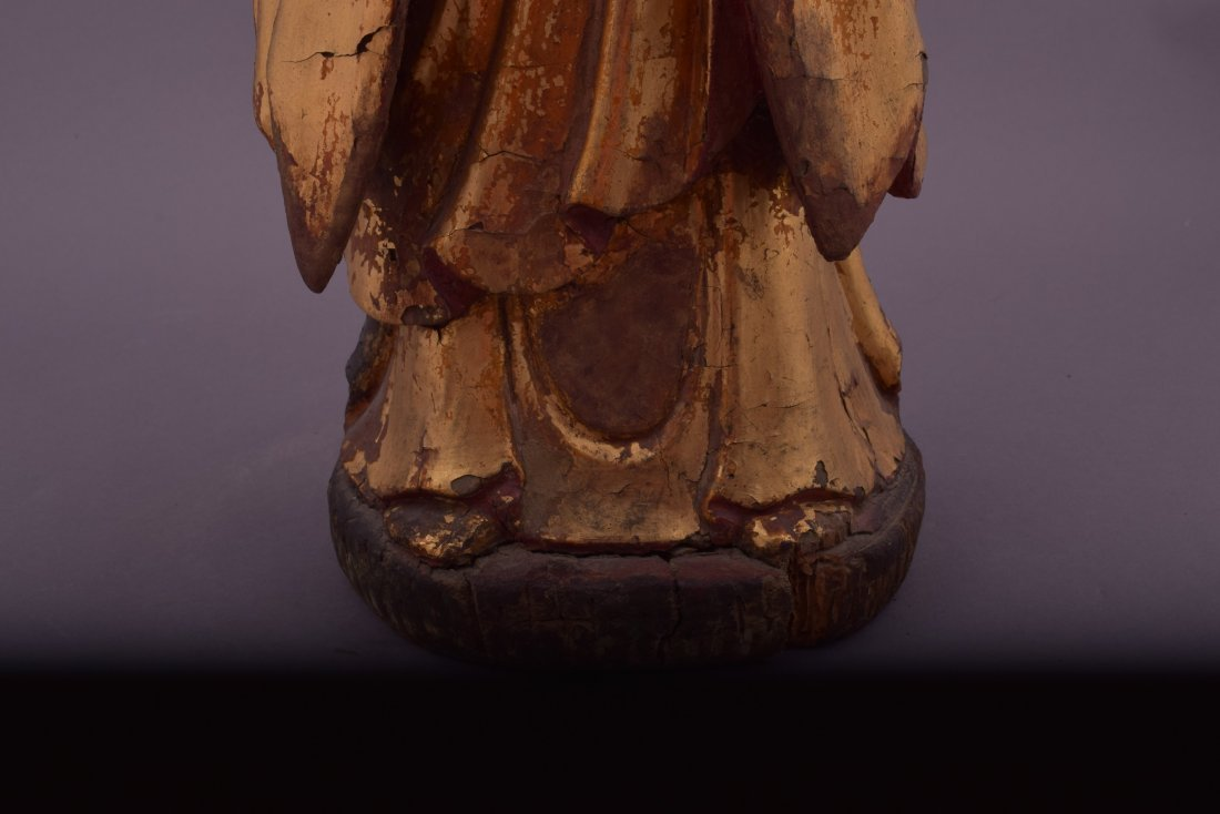 Wood carving. China. 18th century or earlier. Standing - 8
