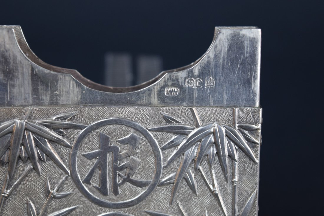 Chinese Export silver Carde de Visite case. 19th - 10