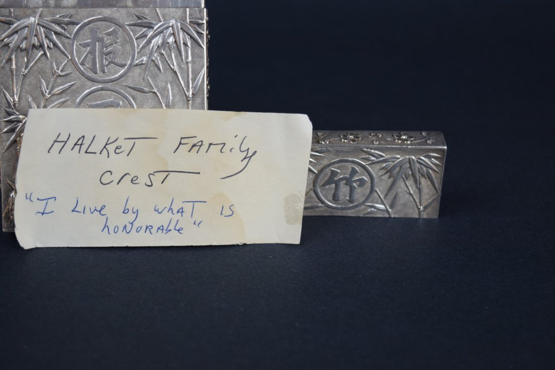 Chinese Export silver Carde de Visite case. 19th - 9