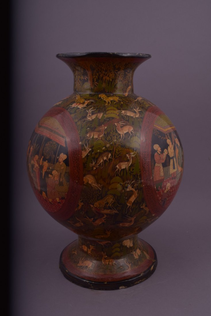 Lacquer vase. Kasmir. Early 20th century. Pomegranate - 2