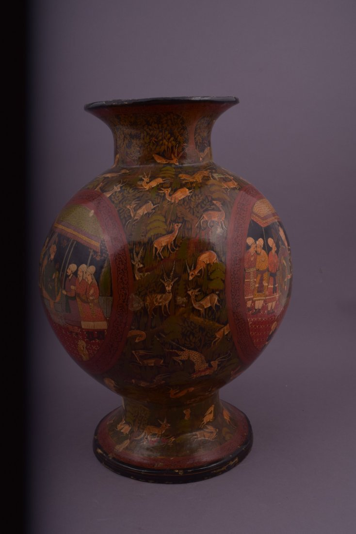 Lacquer vase. Kasmir. Early 20th century. Pomegranate - 4