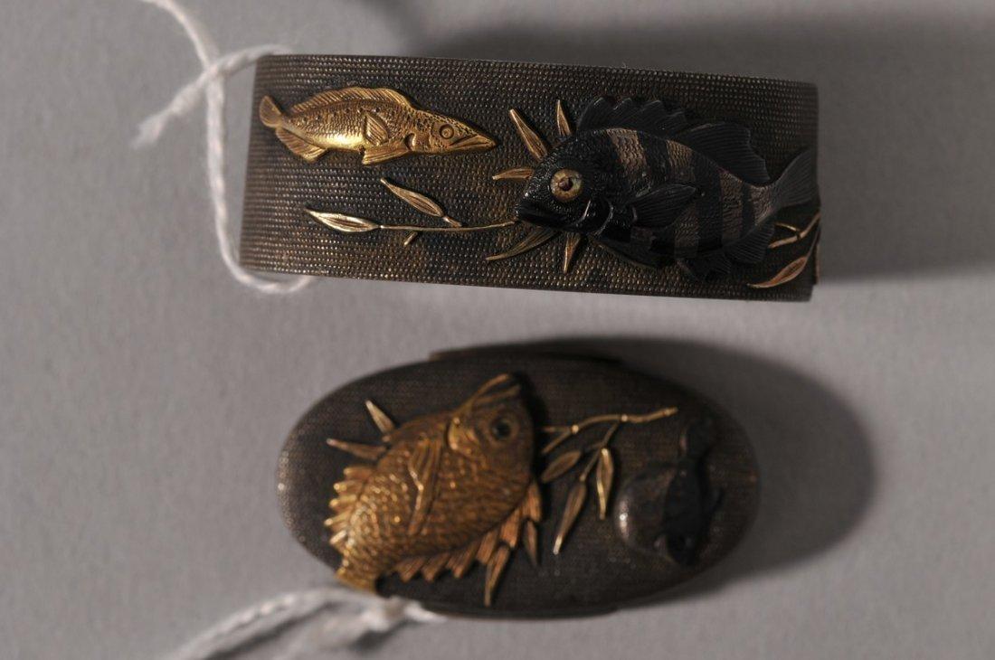 Pair of Fuchi-Kashira. Japan. 18th/19th century.