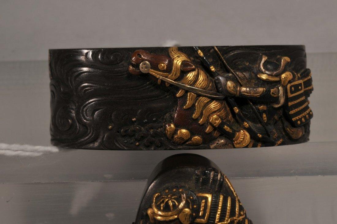 Set Fuchi-Kashira, Japan. 18th/19th century. Copper - 2