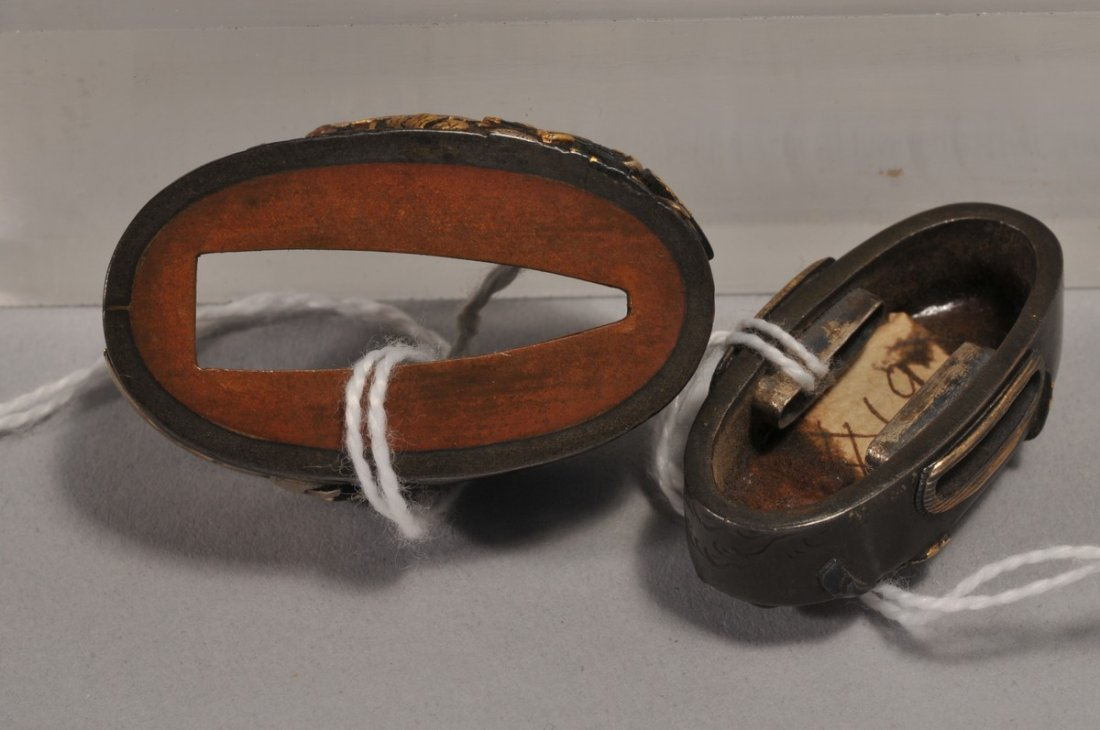 Set Fuchi-Kashira, Japan. 18th/19th century. Copper - 3