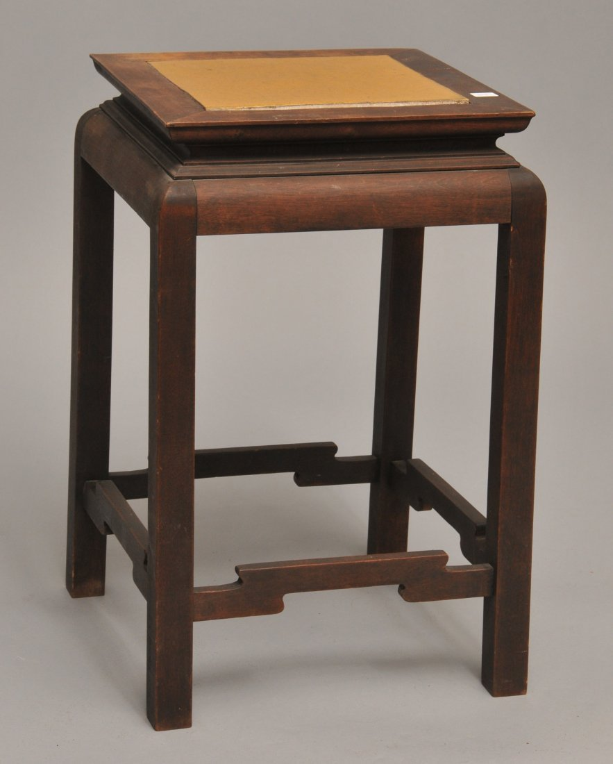 Rare early Gustav Stickley Tokio plant stand with rare