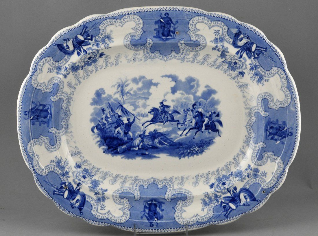 English Historical Staffordshire large platter with