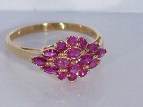 6: 14K SD YG 3.9ctw  RUBY RING [9]