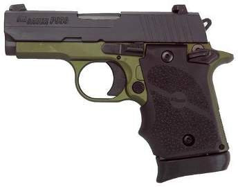"SIG P938 .9MM 3"" NIGHT SIGHT ARMY GREEN 7-SH (TALO)"