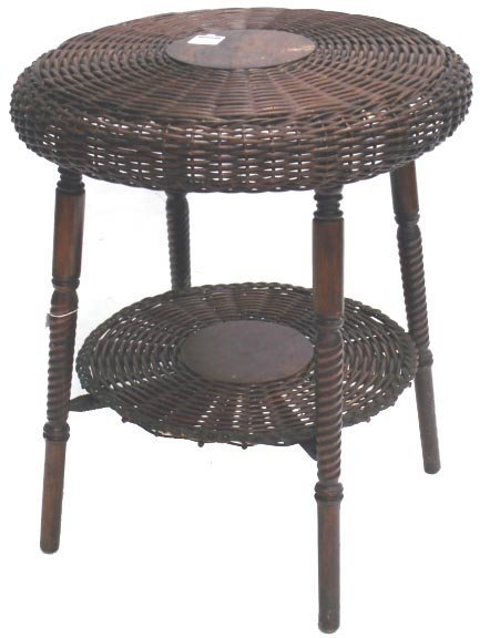 102: NATURAL WICKER LAMP TABLE